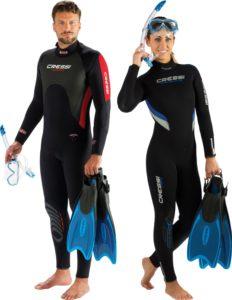 Schwimmflossen Taucher